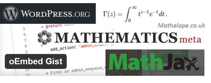 How I write Scientific Blog Posts That Contains Codes and Mathematical Expressions – a Quick Reference – with WordPress, Gist and Mathjax