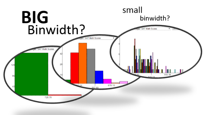 Descriptive Statistics – On Histogram – What are the pros and cons of large vs small binwidth?