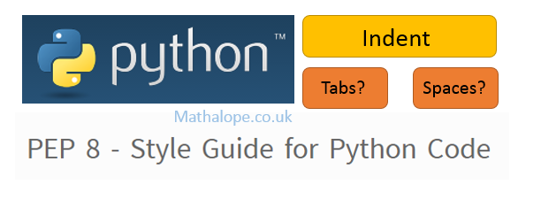 Python – PEP 8 Style Guide – Indent with Tabs or Space?