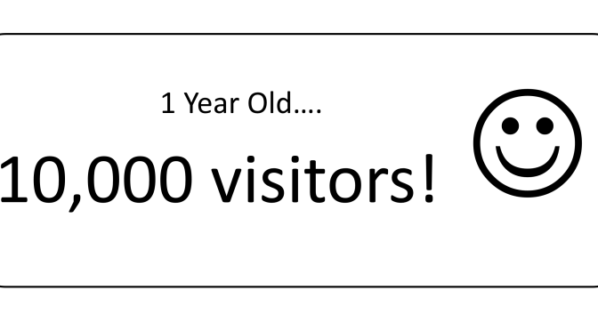 One Year Old… 10,000 Visitors!