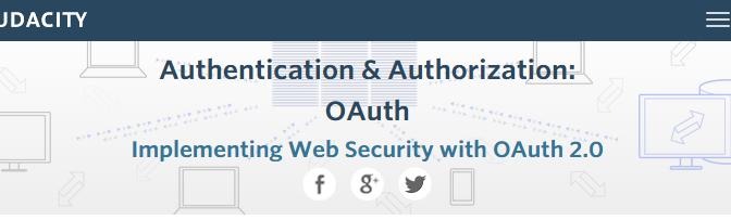 udacity-OAuth-page