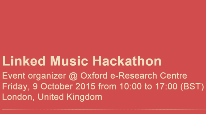 Hackathon – Linked Music Hackathon – Notes