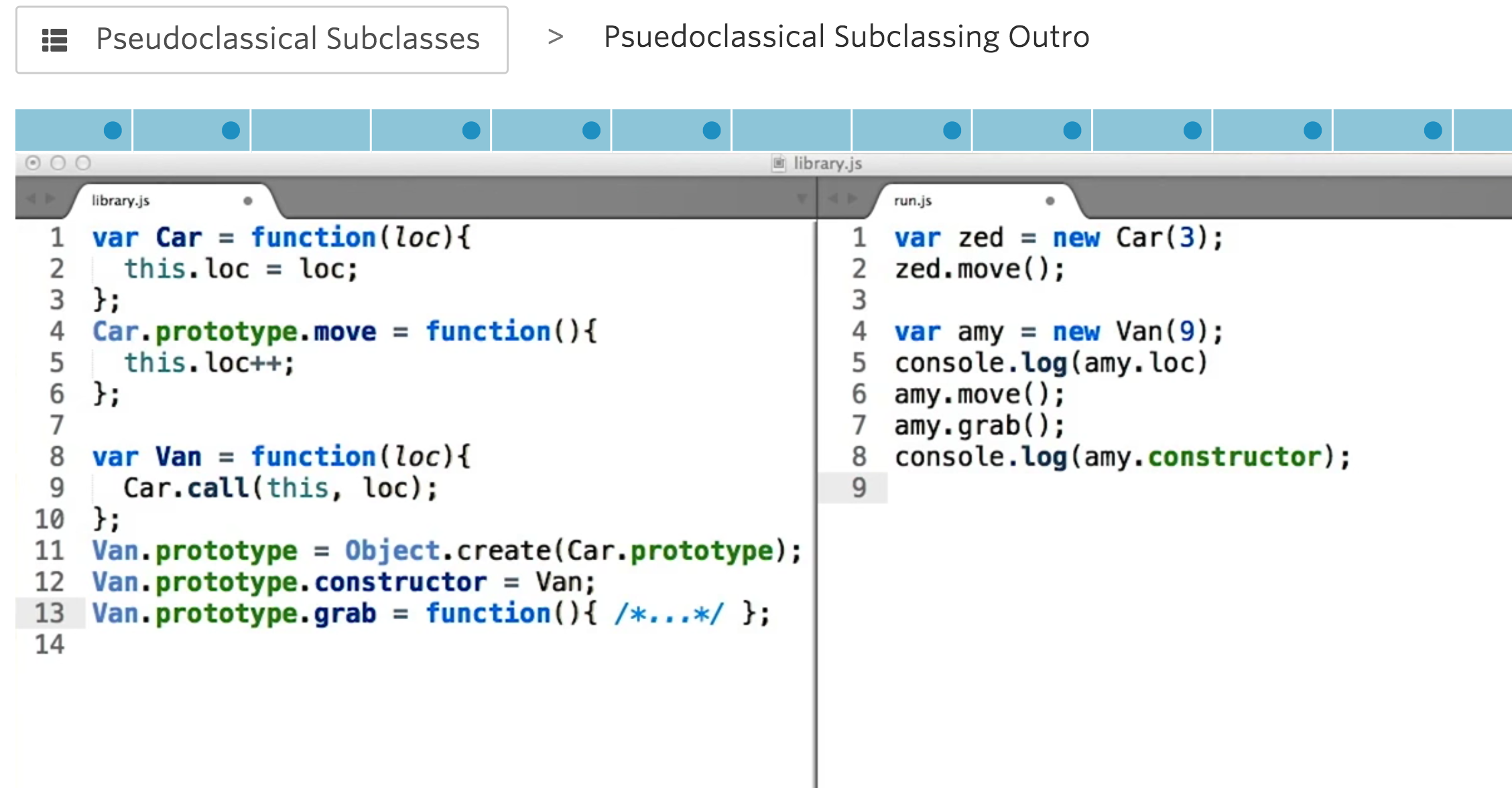 JavaScriptPsuedoclassicalSubclassing