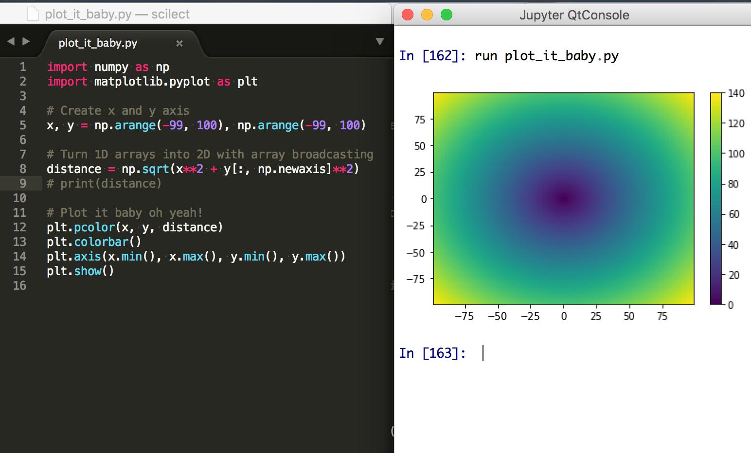 NumPy Array Broadcasting: Combine 1D arrays into 2D