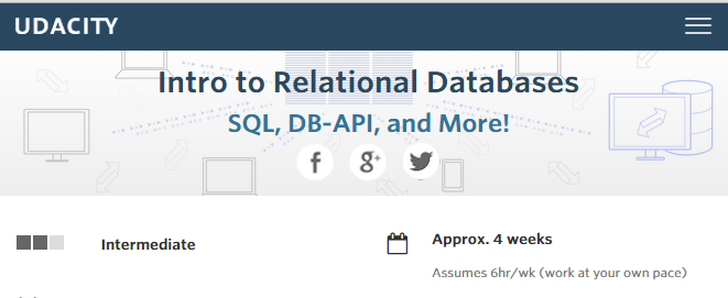 Udacity - Intro to Relational Databases - Notes | Mathalope