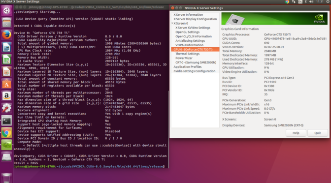 Nvidia CUDA Toolkit Installation (Ubuntu 16 04 LTS) – Notes | Mathalope